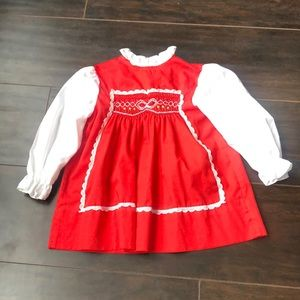 Vintage Polly Flinders   Red and white dress